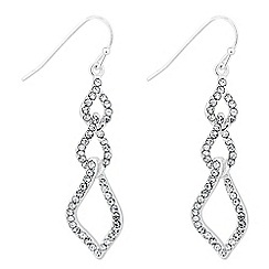 Jon Richard - Triple crystal embellished drop earring
