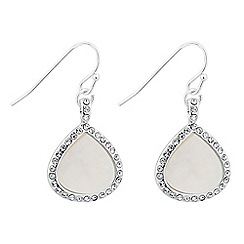 Jon Richard - Mother of pearl teardrop earring
