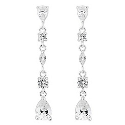 Jon Richard - Cubic zirconia mixed stone drop earring