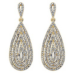 Jon Richard - Statement crystal embellished teardrop earring