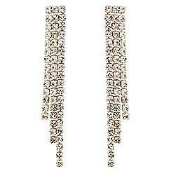 Jon Richard - Diamante tassel shower drop earring