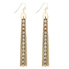 Jon Richard - Diamante crystal tassel chain drop earring