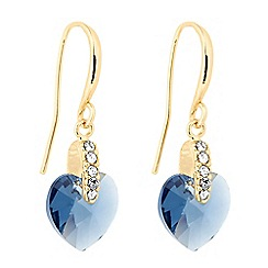 Jon Richard - Light blue heart drop earring MADE WITH SWAROVSKI CRYSTALS