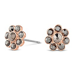 Jon Richard - Hematite embellished flower stud earring