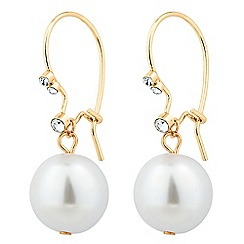 Jon Richard - Pearl and crystal fish hook earring
