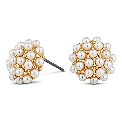 Jon Richard - Cream pearl cluster stud earring