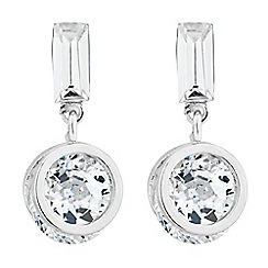 Jon Richard - Baguette top and circular crystal drop earring