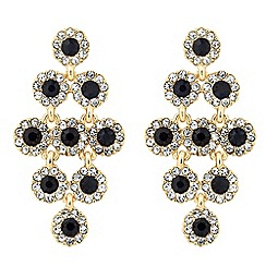 Jon Richard - Round chandelier blue drop earring