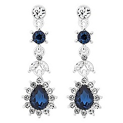 Jon Richard - Kate blue crystal drop earring
