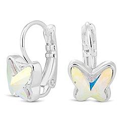Jon Richard - Aurora borealis butterfly earring MADE WITH SWAROVSKI CRYSTALS