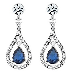 Alan Hannah Devoted - Elegant blue crystal drop earring