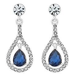 Alan Hannah Devoted - Elegant blue crystal drop earring