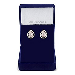 Jon Richard - Semi precious rose gold teardrop earring