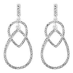 Jon Richard - Pave peardrop chandelier earring