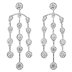 Jon Richard - Cubic zirconia triple circle chandelier earring