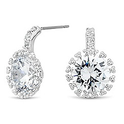 Jon Richard - Cubic zirconia cluster stone drop earring
