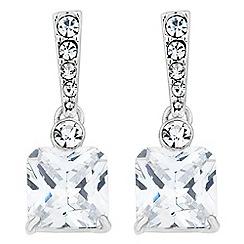 Jon Richard - Cubic zirconia square pave crystal earring