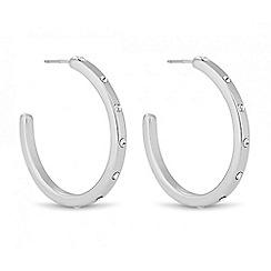 Jon Richard - Polished silver crystal hoop earring