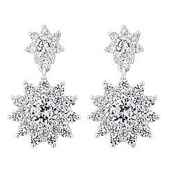 Jon Richard - Cubic zirconia starburst earring