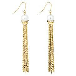 Jon Richard - Pearl tassel earring