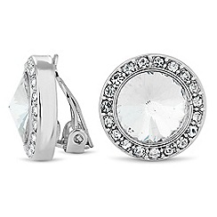 Jon Richard - Crystal dome halo clip on earring