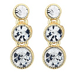 Jon Richard - Graduated crystal drop earring