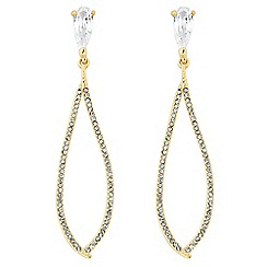 Jon Richard - Fine teardrop cubic zirconia drop earring