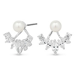 Alan Hannah Devoted - Designer pearl and crystal drop two part earring