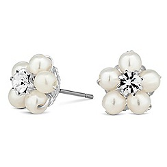 Alan Hannah Devoted - Designer pearl blossom wrap earring