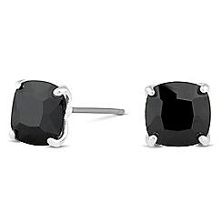 Jon Richard - Jet cubic zirconia square stud earring