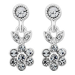Alan Hannah Devoted - Designer silver leaf and flower drop earring