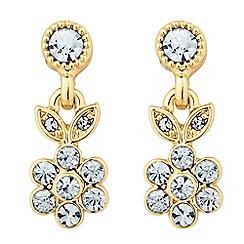 Alan Hannah Devoted - Designer gold leaf and flower drop earring