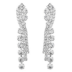 No. 1 Jenny Packham - Designer silver art deco drop earring