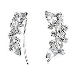Jon Richard - Silver crystal peardrop drop earring