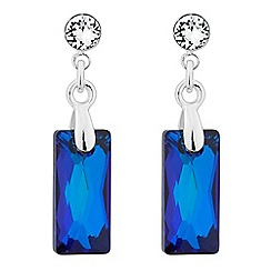 Jon Richard - Bermuda blue bale drop earring MADE WITH SWAROVSKI CRYSTALS