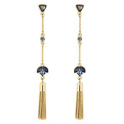 Jon Richard - Gold crystal cluster drop tassel earring