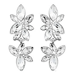 Alan Hannah Devoted - Designer silver cluster stone drop earring