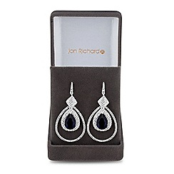 Jon Richard - Lustre Collection Blue cubic zirconia peardrop statement earring