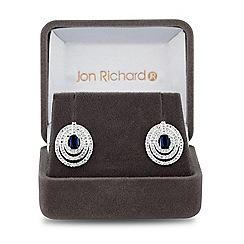Jon Richard - Lustre Collection Blue cubic zirconia infinity circle stud earring
