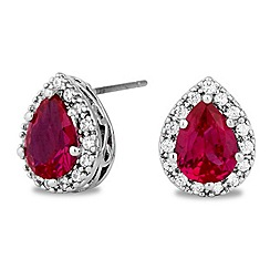 Jon Richard - Cubic zirconia pave surround stud earring