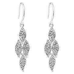 Jon Richard - Silver crystal pave chandelier link earring
