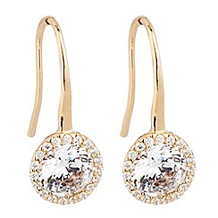 Jon Richard - Gold cubic zirconia clara drop earring