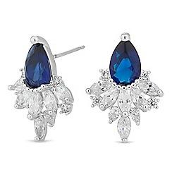Jon Richard - Blue crystal peardrop cluster earring