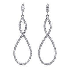Jon Richard - Silver cubic zirconia infinity drop earring