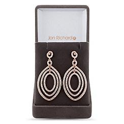 Jon Richard - Lustre Collection Rose gold multi circle drop earring