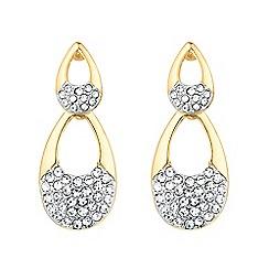Jon Richard - Gold crystal double drop earring