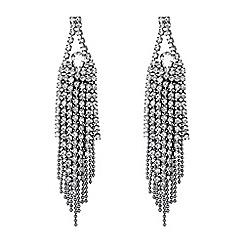 Jon Richard - Silver crystal diamante tassel drop earring