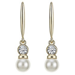 Jon Richard - Gold pearl and crystal drop stick earring