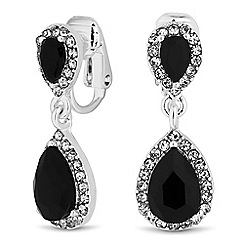 Jon Richard - Jet peardrop crystal drop earring