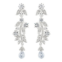 Alan Hannah Devoted - Designer silver star cubic zirconia statement drop earring